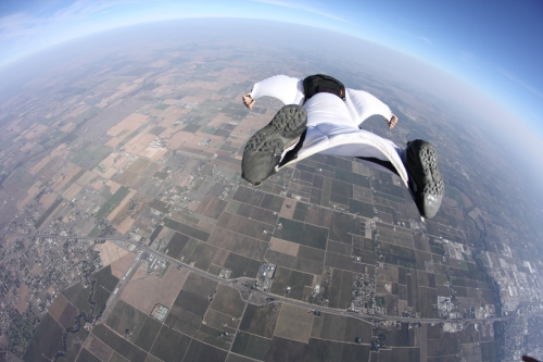 Wing Suit Skydiving
